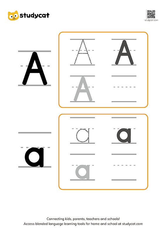 English alphabet 'Aa' writing (2)