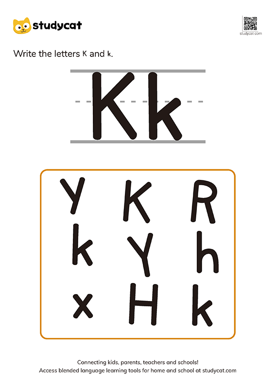 English alphabet 'Kk' writing (1)