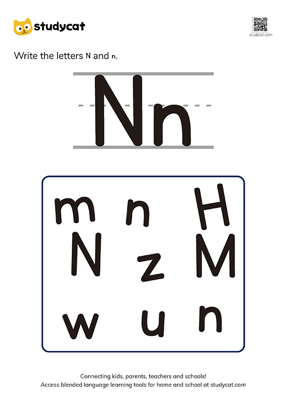 English alphabet 'Nn' writing (1)